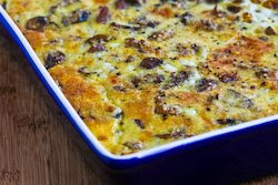 breakfast casserole with sweet italian sausage mushrooms and cheese ...