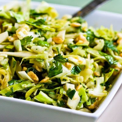 absolutely loved this recipe for Spicy Cilantro-Peanut Slaw