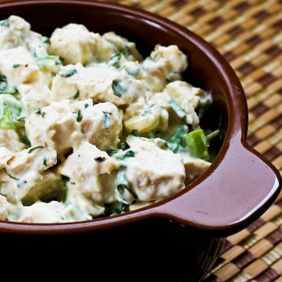 Chicken Salad with Basil and Parmesan
