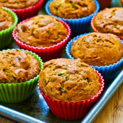 Low-Sugar and Whole Wheat Zucchini Muffins with Pecans