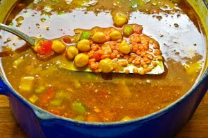 for Spicy Red Lentil and Chickpea Stew (Paula's Moroccan Lentil Stew ...