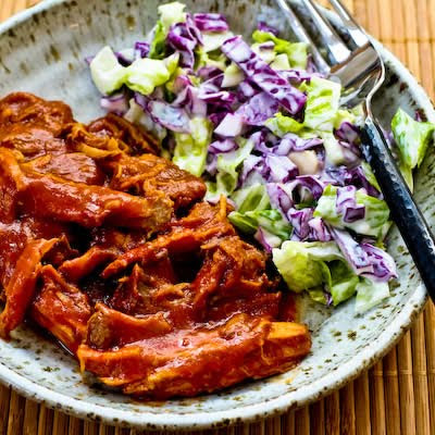 Pulled Pork with Low-Sugar Barbecue Sauce