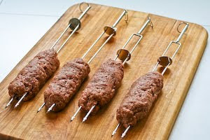 ... or Grilled Ground Beef on Skewers with Middle Eastern Spices