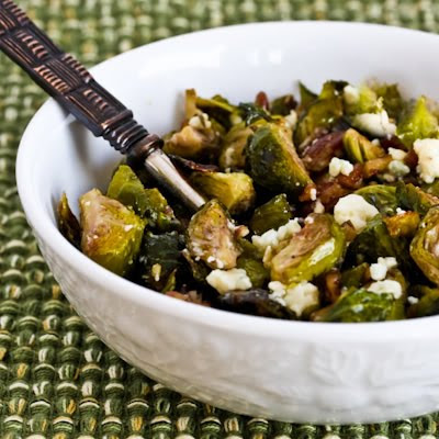 Roasted Brussels Sprouts with Pecans and Gorgonzola