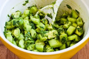 ... Kitchen®: Cucumber and Avocado Salad Recipe with Lime, Mint, and Feta