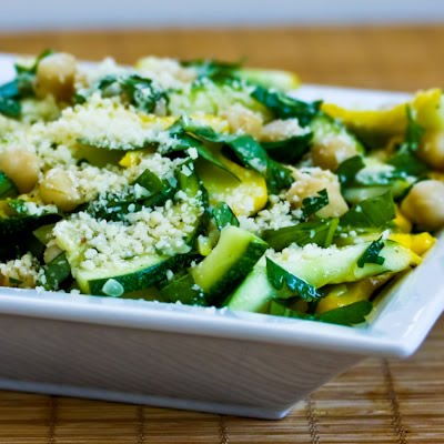 ... Summer Squash and Chickpea Salad with Lemon, Herbs, and Parmesan