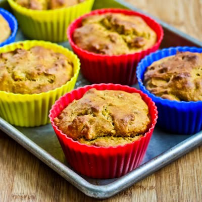 Low-Sugar and Whole Wheat Mango Walnut Muffins