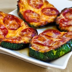 Kalyn's Kitchen®: Grilled Zucchini Pizza Slices