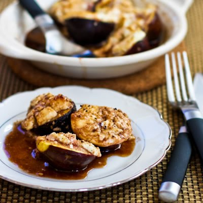 Roasted Figs with Goat Cheese and Balsamic-Agave Glaze found on ...