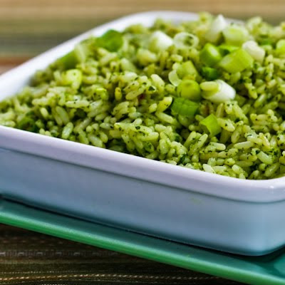 Ginger-Cilantro Rice with Green Onion and Sesame found on KalynsKitchen.com