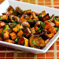 Kalyn's Kitchen®: Roasted Sweet Potatoes and Mushrooms with Thyme and ...
