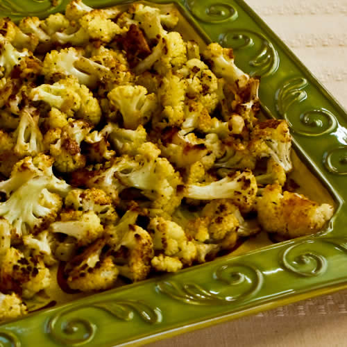 Roasted Cauliflower with Parmesan