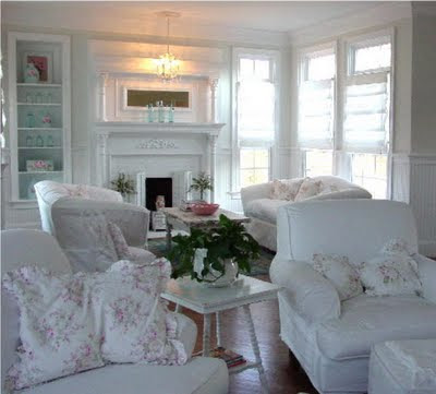 Shabby Chic Kitchen With Fireplace House Furniture