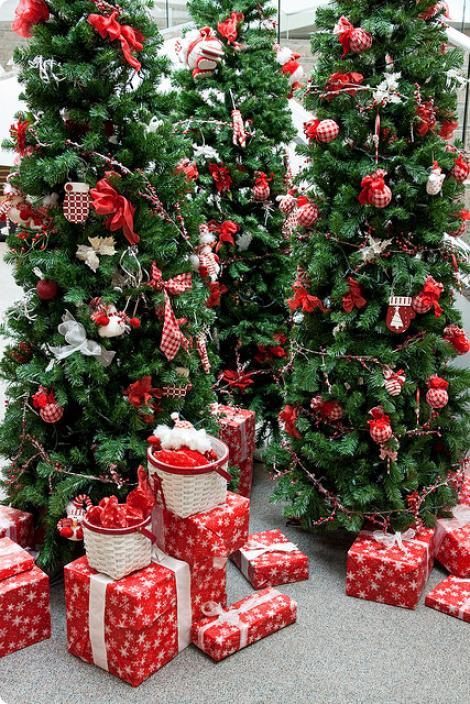 decoracao arvore de natal vermelha:Sonhando, Vivendo e Aprendendo: Arvore de natal