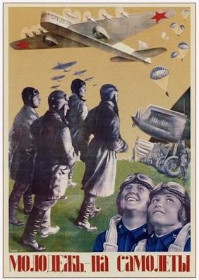 Молодежь — на самолеты,  Клуцис Густав Густавович, 1934