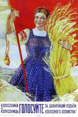 Колхозники и колхозницы, голосуйте за дальнейший подъем колхозного хозяйства!,  Шубина Галина Константиновна, 1947