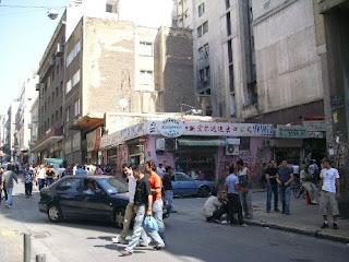Una strada del quartiere di Omonia