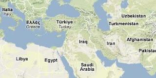 Mappa del vicino e medio oriente