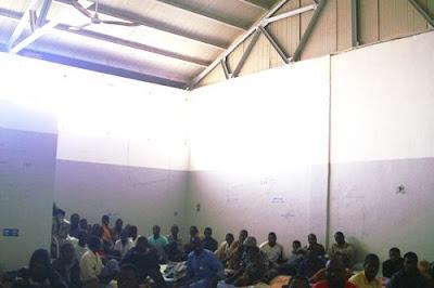 Cella immigrati detenuti a Sebha