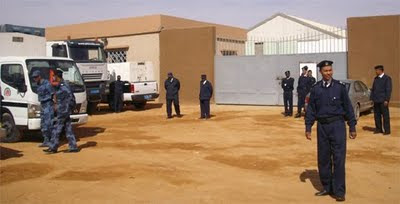Detention camp in Sebha, Libya