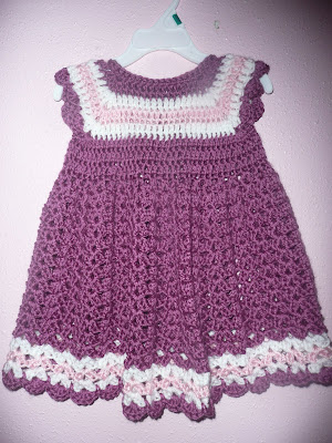 craftastica: crochet toddler dress