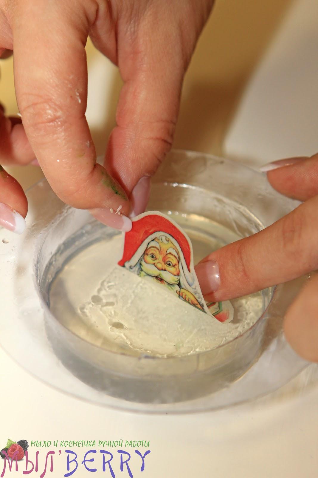 Как сделать мыло с картинкой