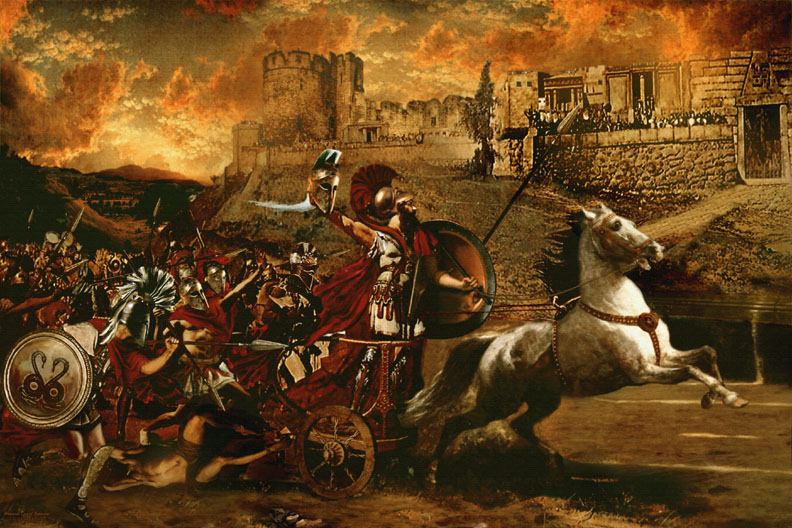 an overview of the scene in the last year of the trojan war Philoctetes did not appear in the front at troy until the last year of the war, after achilles  a trojan spearman, she  on his way to the trojan war the army .