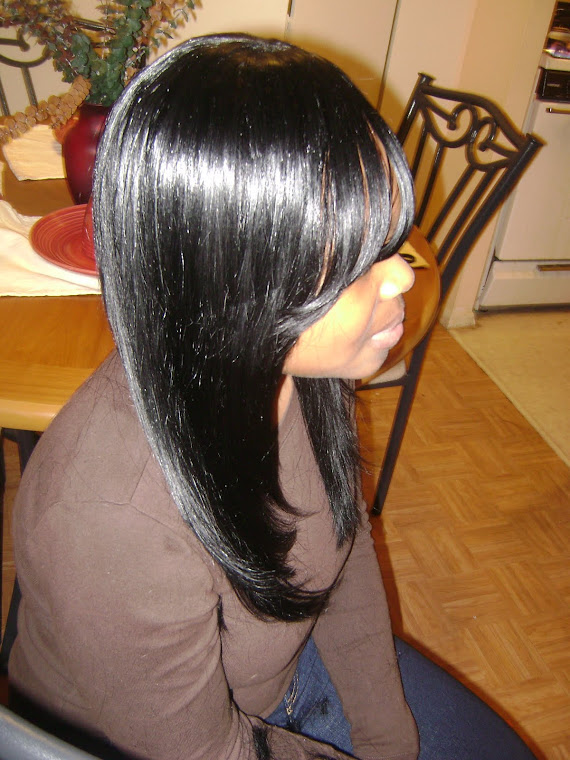 SIDE VIEW OF STRAIGHT WEAVE