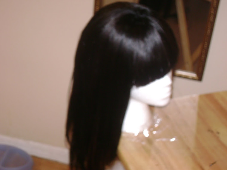 SIDE VIEW OF WIG