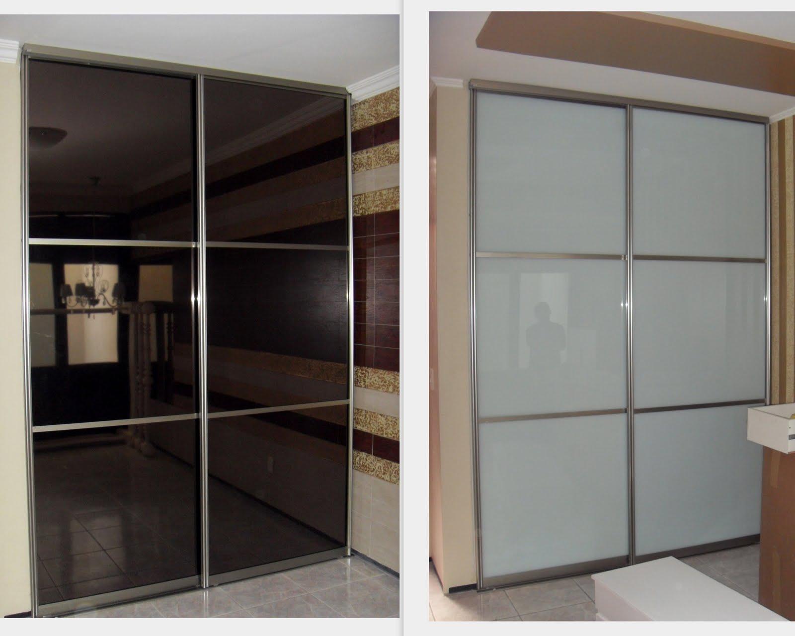 #604A3C Portas de correr em Perfil de Alumínio com vidro e Película Bronze. 950 Perfil De Aluminio Para Janela De Correr