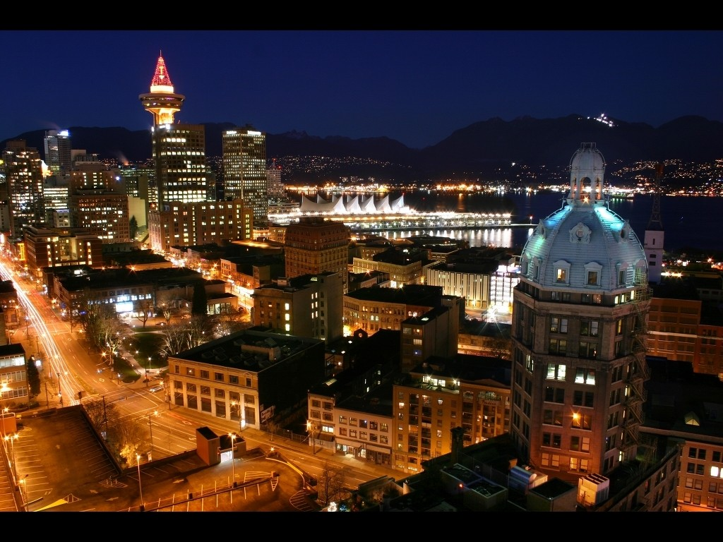 vancouver city nights wallpapers - Vancouver City Nights Wallpapers HD Wallpapers