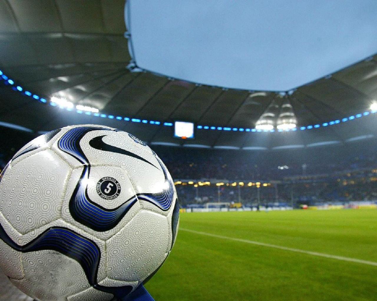 El Campo De Futbol El Juego Se Establece En El Campo Del Futbol