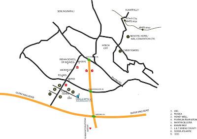 TCS Hyderabad campus, WaveRock building Map