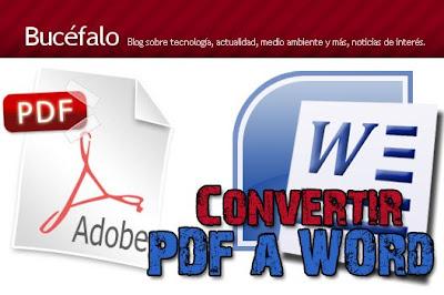 como pasar un archivo PDF a WORD