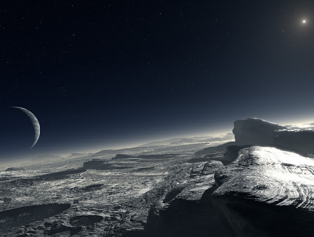 Pluto's tiny atmosphere and pure methane on its icy surface