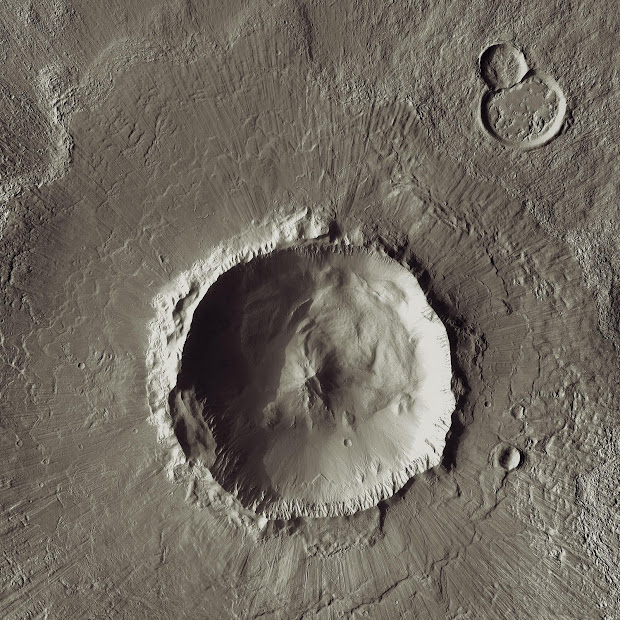 Bacolor Crater as viewed by NASA's Mars Odyssey orbiter