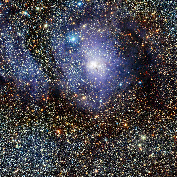 ESO's VISTA captures stunning view of star formation region M8