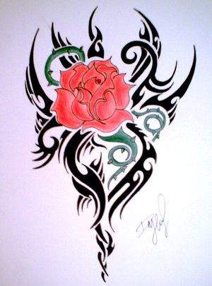 tribales de rosas y flores a color y blanco y negro