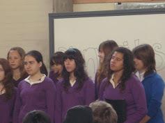CORO LICEO DAU, participando en encuentro coros, 6 octubre 2009