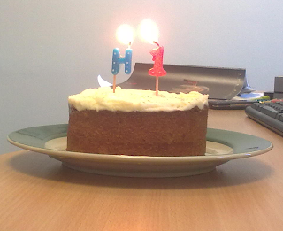 There's a cake next to it with 'N1' on it.