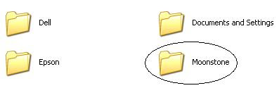 Moonstone Windows folder