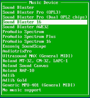 Sound Blaster 16 option