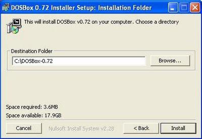 Dosbox installation