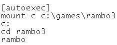 Game autoexec