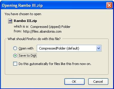 Saving Rambo 3 game