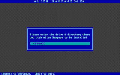 Alien Rampage install command