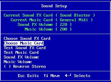Choose music card option