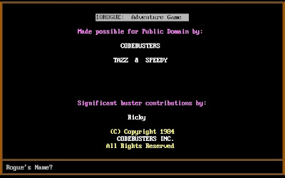 Rogue the Adventure Game