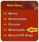 ScummVM download menu