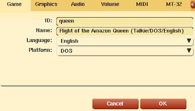 Amazon Queen settings
